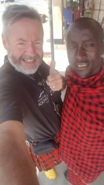 Local was fascinated with the kilt !!! Told him we were brothers from the same tribe :-)