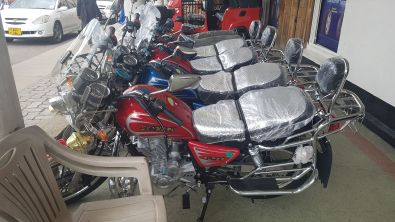 These bikes were Chinese and really cheap, wondered about buying one and doing a Long Way down trip one day!