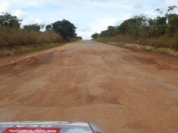 Slightly pot holed roads