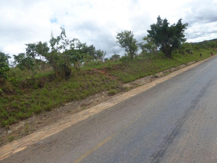 In Africa you need to be careful of all verges and gutters they are often a couple of feet deep and sometimes almost hidden